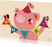 Verjaardag biggetje , feest, NK
