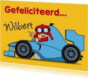 Verjaardagskaarten - verjaardag kinderfeest raceauto M