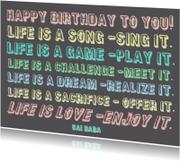 Verjaardag Life is a Dream IW