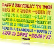 Verjaardag Life is a Song IW