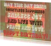 Verjaardag peace and love IW
