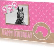Verjaardag roze paardje