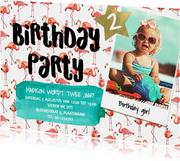Verjaardagfeestje Flamingo zomer