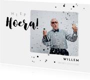 Verjaardagkaart felicitatie man typografisch foto