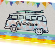 verjaardagskaart auto busje