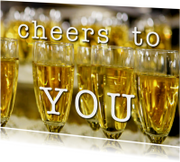 Verjaardagskaarten - Verjaardagskaart Cheers to YOU