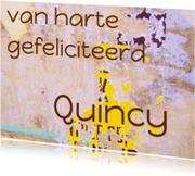 Verjaardagskaart Quincy IW