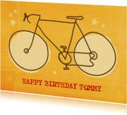 Verjaardagskaart Retro fiets
