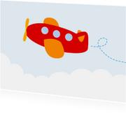Vrolijke kinderkaart met vliegtuig