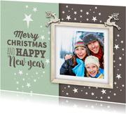 Weihnachtskarte als Postkarte mit Foto in Bilderrahmen
