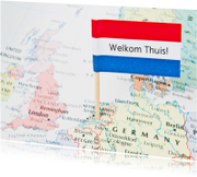 Welkom thuis - vlag op kaart