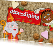 YVON Sint en Piet snoepgoed uitnodiging