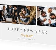 Zakelijke nieuwjaarskaart fotocollage met 3 foto's en ster
