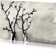 Rouwkaarten - Zwart witte takken