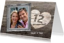 12 en een half jaar jubileum - hout
