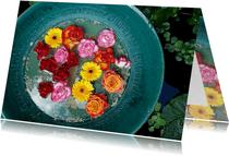 Groetjes bloemenschaal