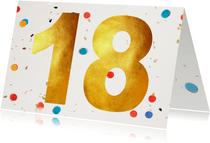 18 jaar felicitatie confetti