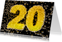 20 in feestelijke champagne