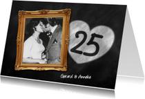 25 jaar huwelijk fotolijst