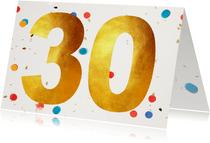 30 jaar gefeliciteerd confetti