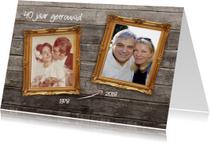 40 jaar getrouwd - dubbele lijst