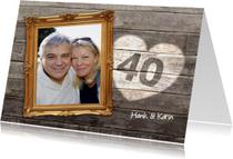 40 jaar jubileum - lijst hout