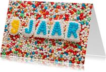 9 jaar van suikerletters