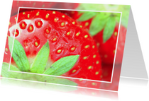 Aardbeienkaart