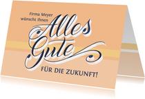 """Abschiedskarte mit Hand-Lettering """"Alles Gute"""""""