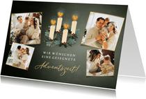 Adventskarte mit Fotocollage & Adventskranz