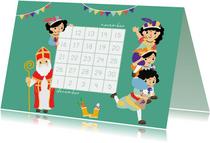 Aftellen naar Sint met deze aftelkalender