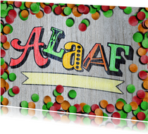 Alaaf carnaval hout confetti