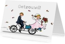 Bakfiets bruidegom bruid