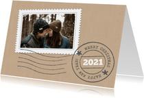 Bar creatief - kerst papier postzegel