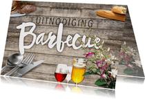 Barbecue uitnodiging met wijn en bier