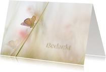 Bedankkaart met vlinders