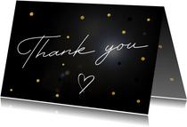 Bedankkaart Thank you op stijlvolle achtergrond