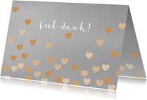 Trouwkaarten - Bedankkaart zwevende hartjes