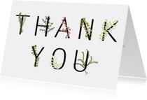 Bedankkaartjes - Bedankkaartje Botanical ThankYou