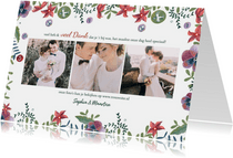 Bedankkaartje botanische bruiloft