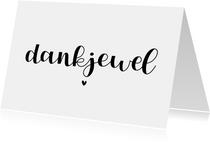 Bedankkaartje - dankjewel