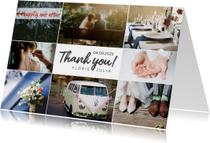 Bedankkaartje huwelijk fotocollage 8 foto's