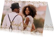 Bedankt bruiloft goud hartjes