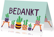 Bedanktkaart cactus vetplanten