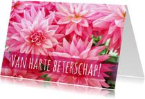 Beterschap vrolijke bloemenkaart