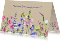 Beterschap wilde bloemen