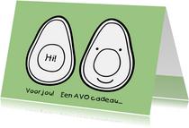 Beterschapskaart avocado tekening