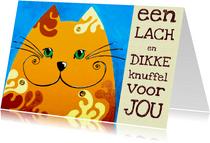 Beterschapskaart knuffel kat