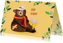 Beterschapskaartje met lieve beer