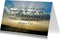 Bijbeltekst ik ben het licht